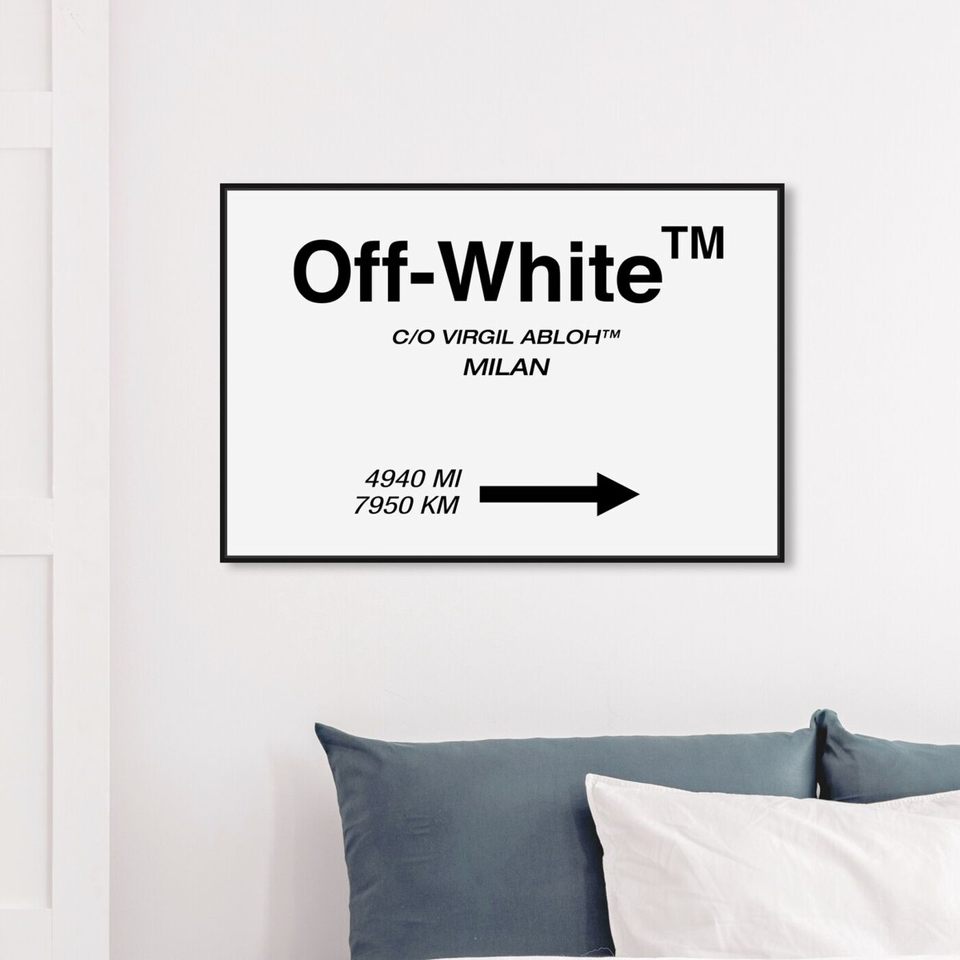 Hanging view of OFF Road Sign Minimalist featuring fashion and glam and road signs art.