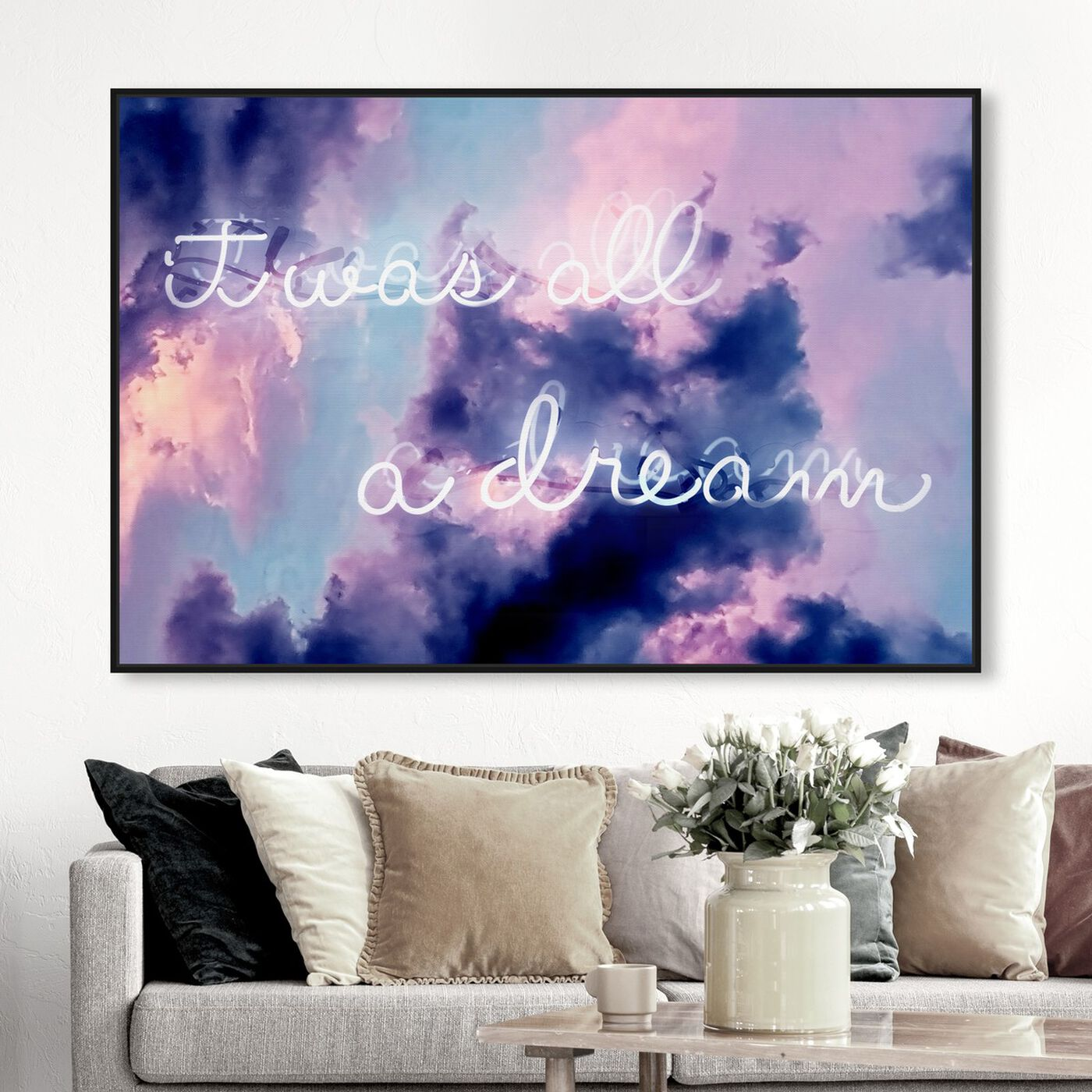 Hanging view of IT WAS ALL A DREAM - LONG featuring typography and quotes and motivational quotes and sayings art.