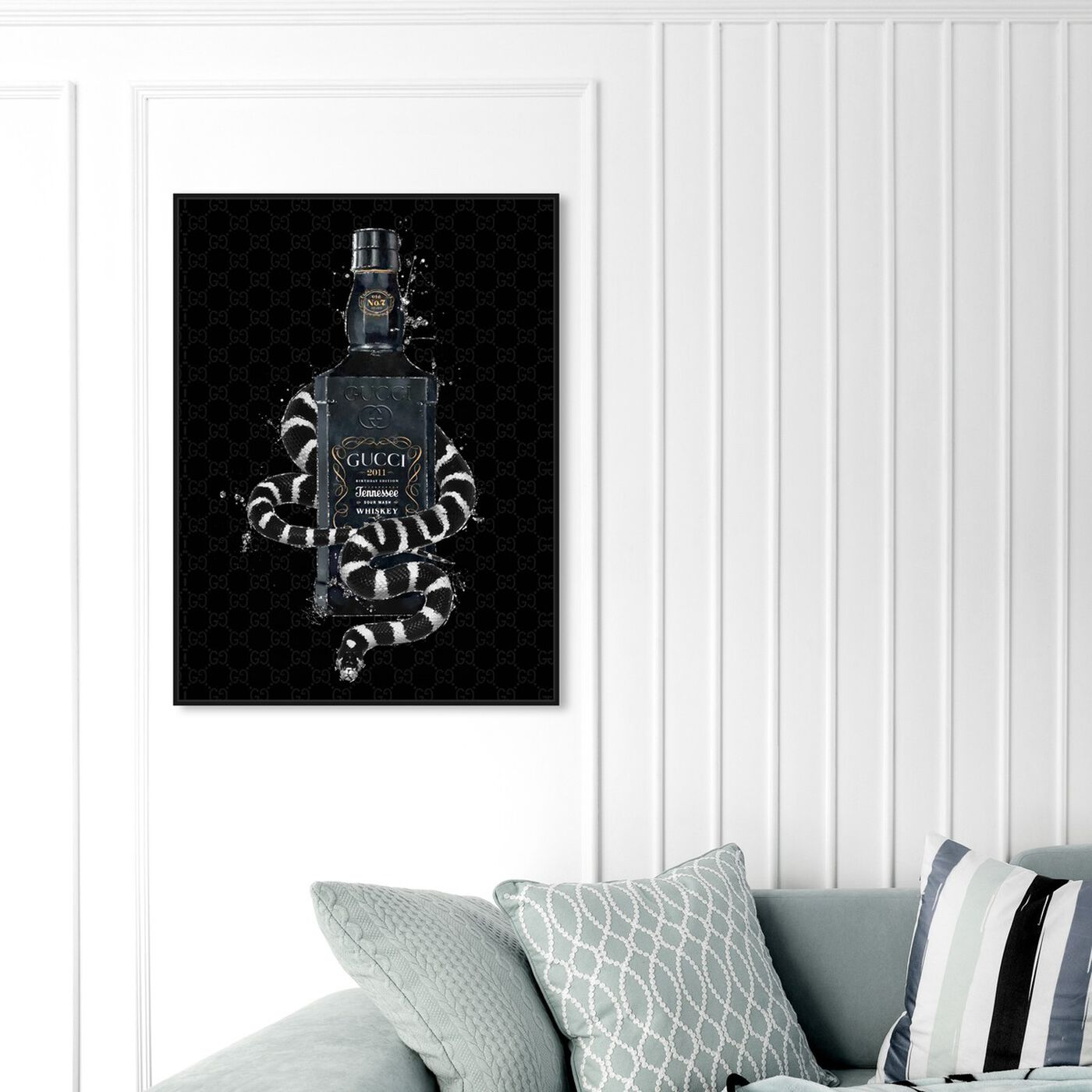 Hanging view of Italian Black Label featuring fashion and glam and perfumes art.