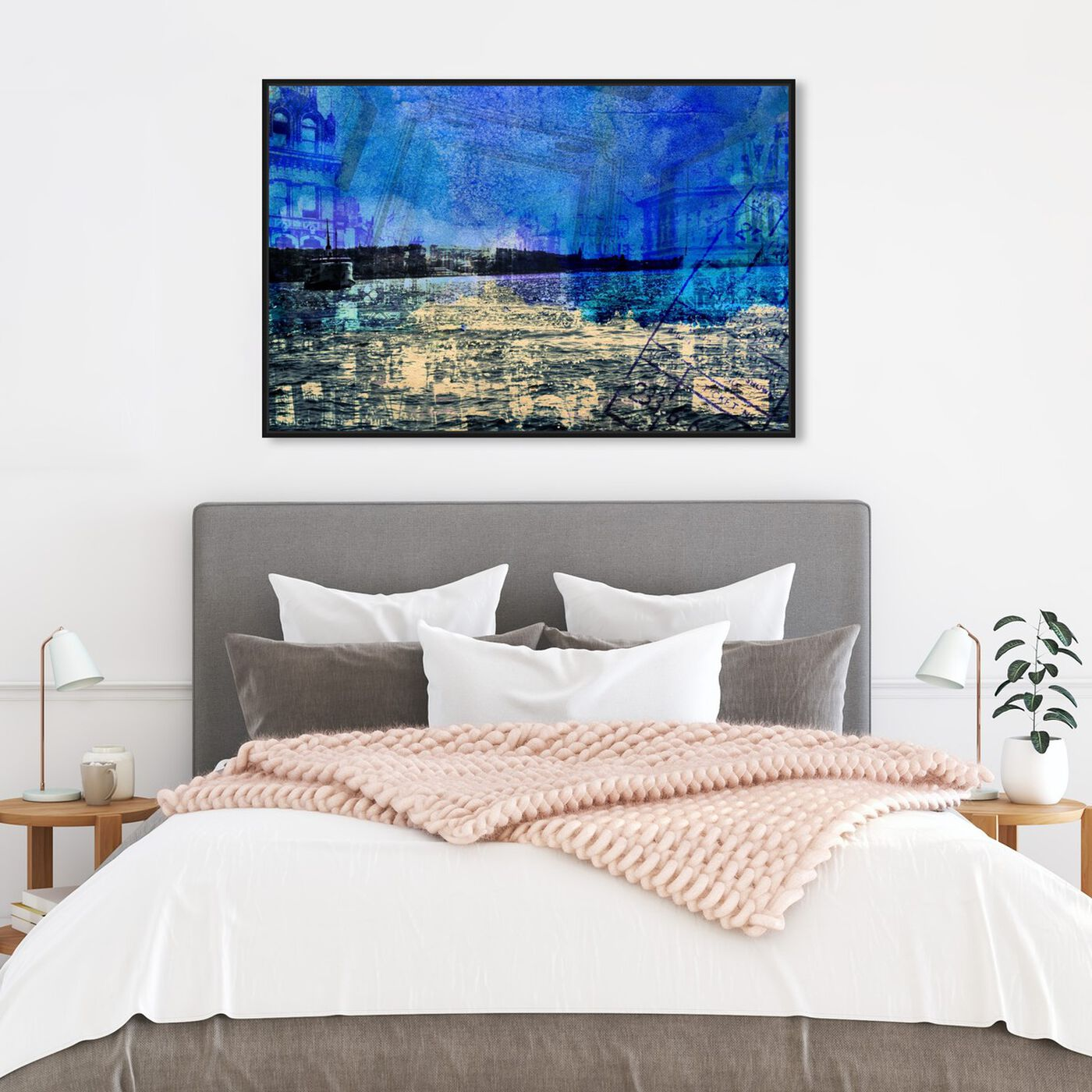 Hanging view of Crossing The Ocean featuring nautical and coastal and coastal art.