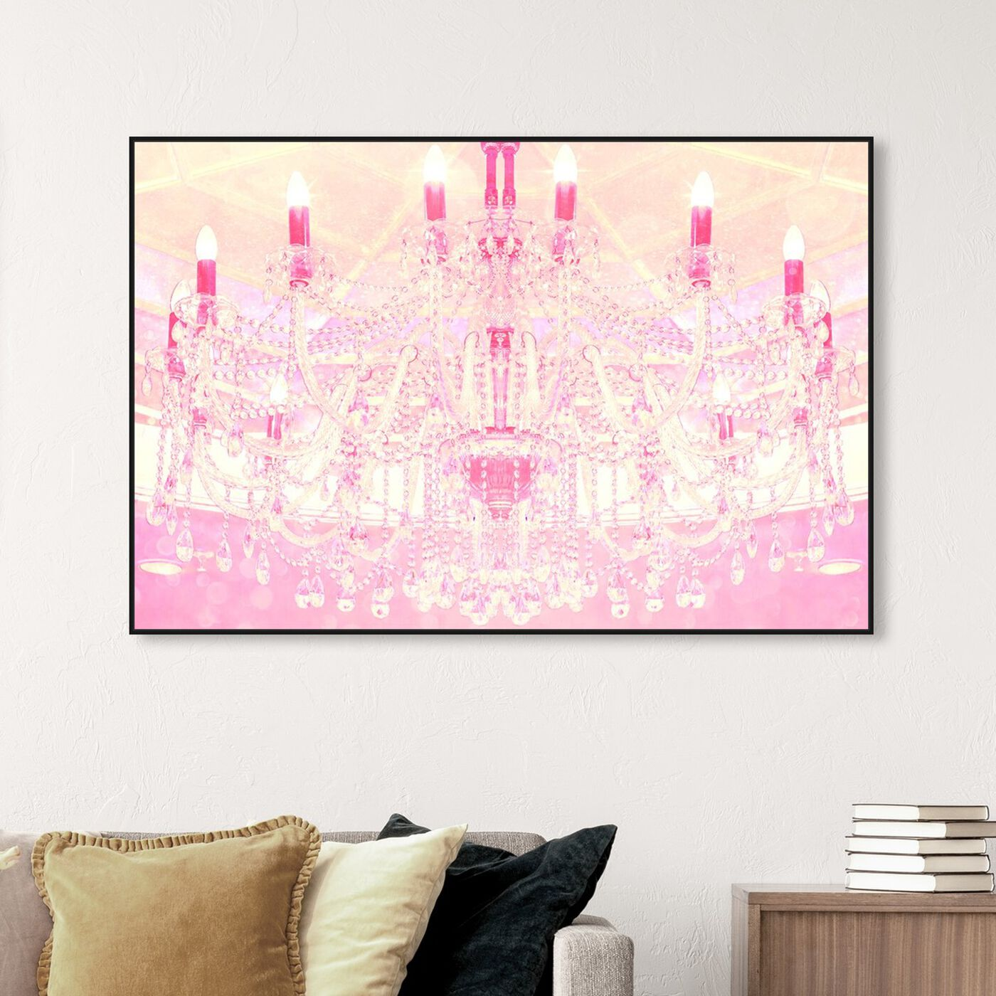 Hanging view of Strawberry Vanilla Lights  featuring fashion and glam and chandeliers art.