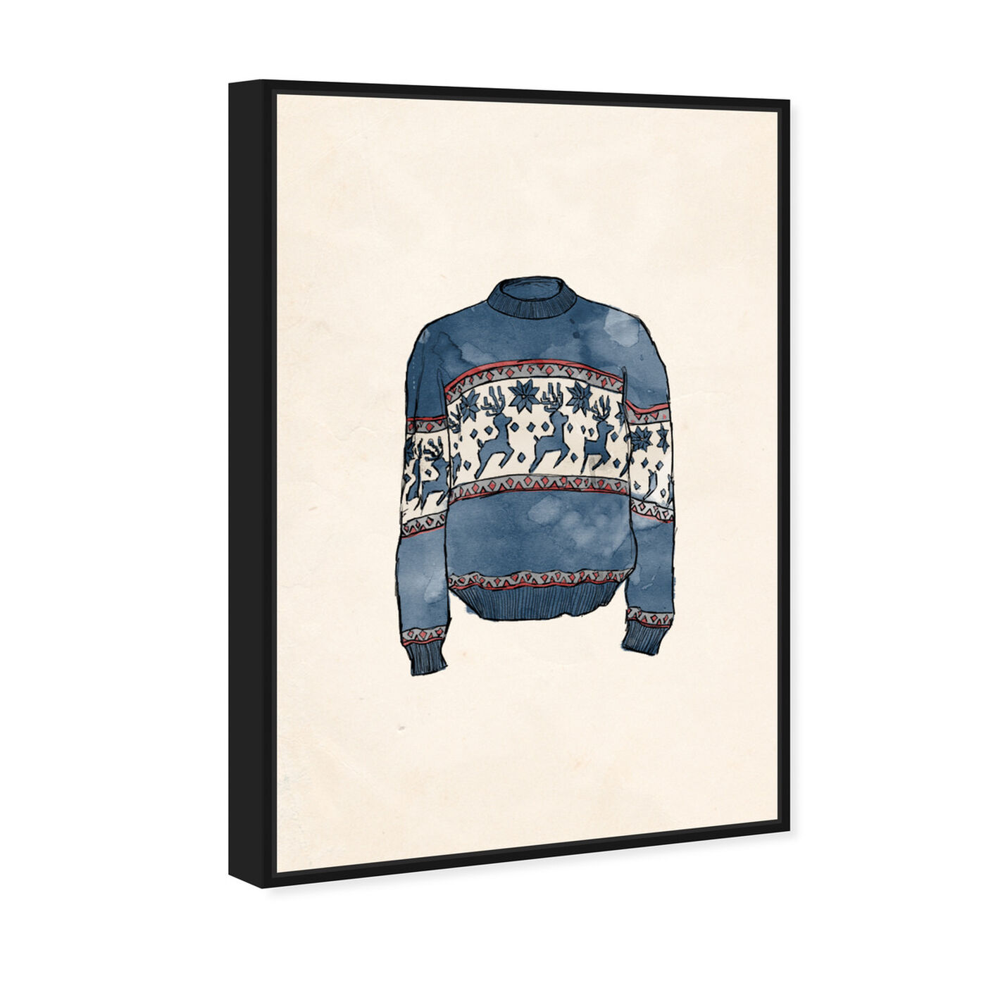 Angled view of My Christmas Sweater featuring holiday and seasonal and holidays art.