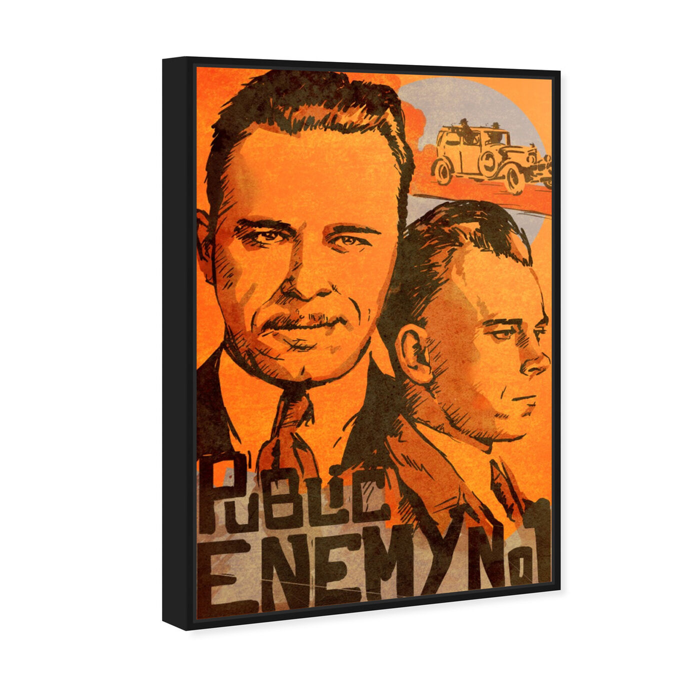 Angled view of Dillinger Public Enemy featuring movies and tv and action movies art.