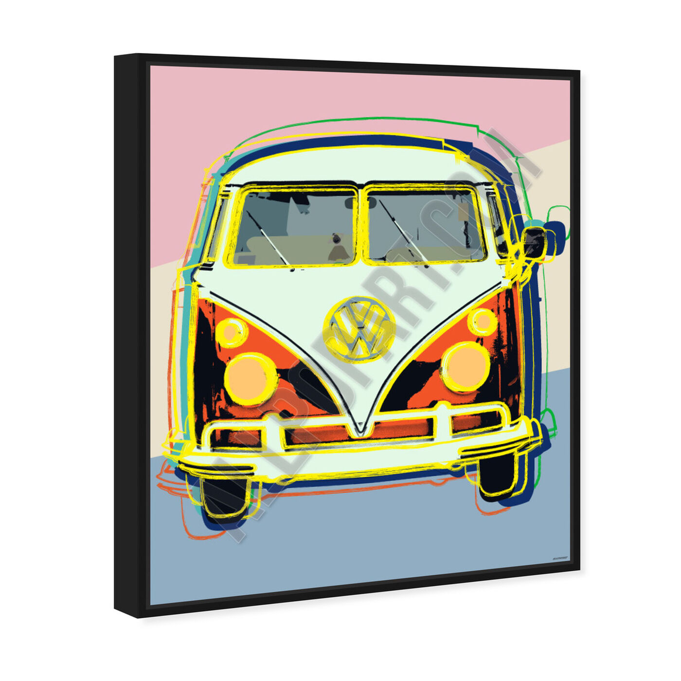 Angled view of Classic Van featuring transportation and automobiles art.