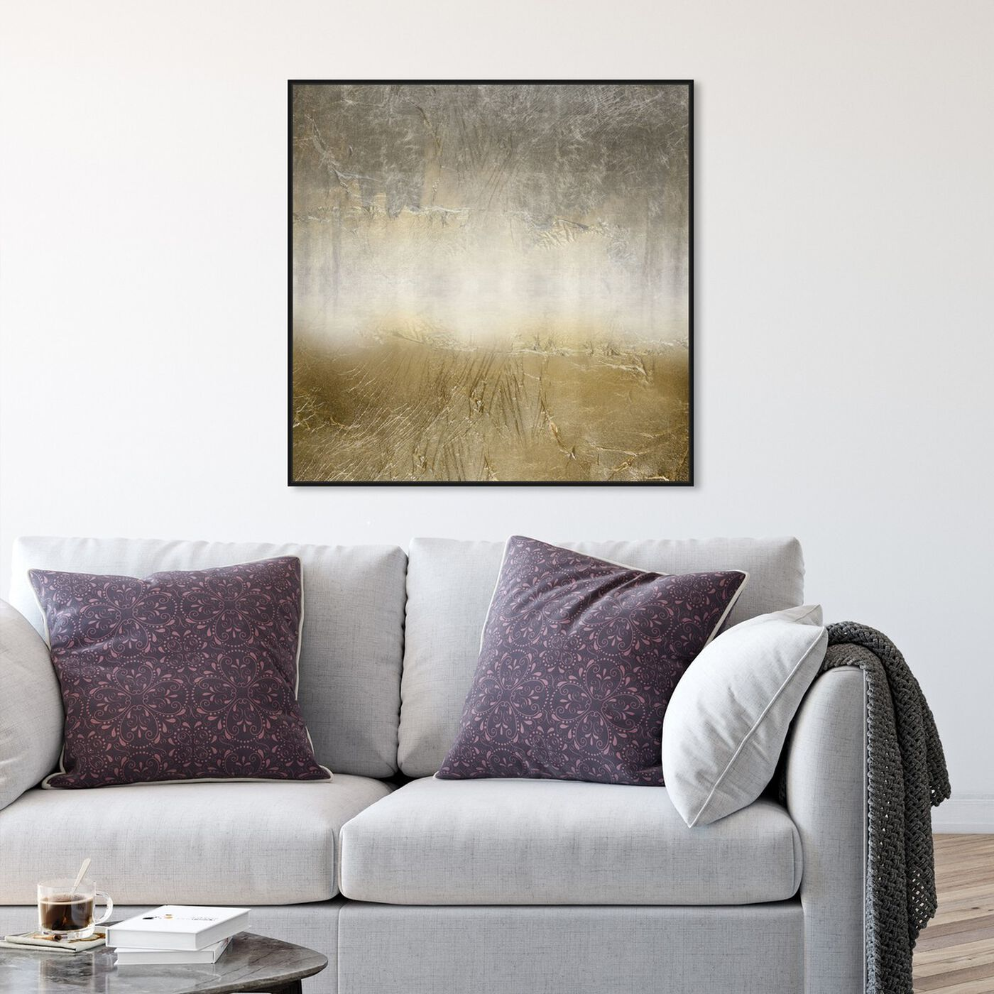 Hanging view of Magari featuring abstract and textures art.
