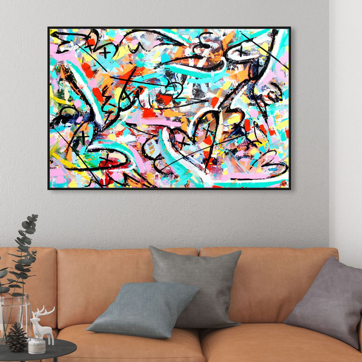 Hanging view of Timor Domini by Tiago Magro featuring abstract and textures art.