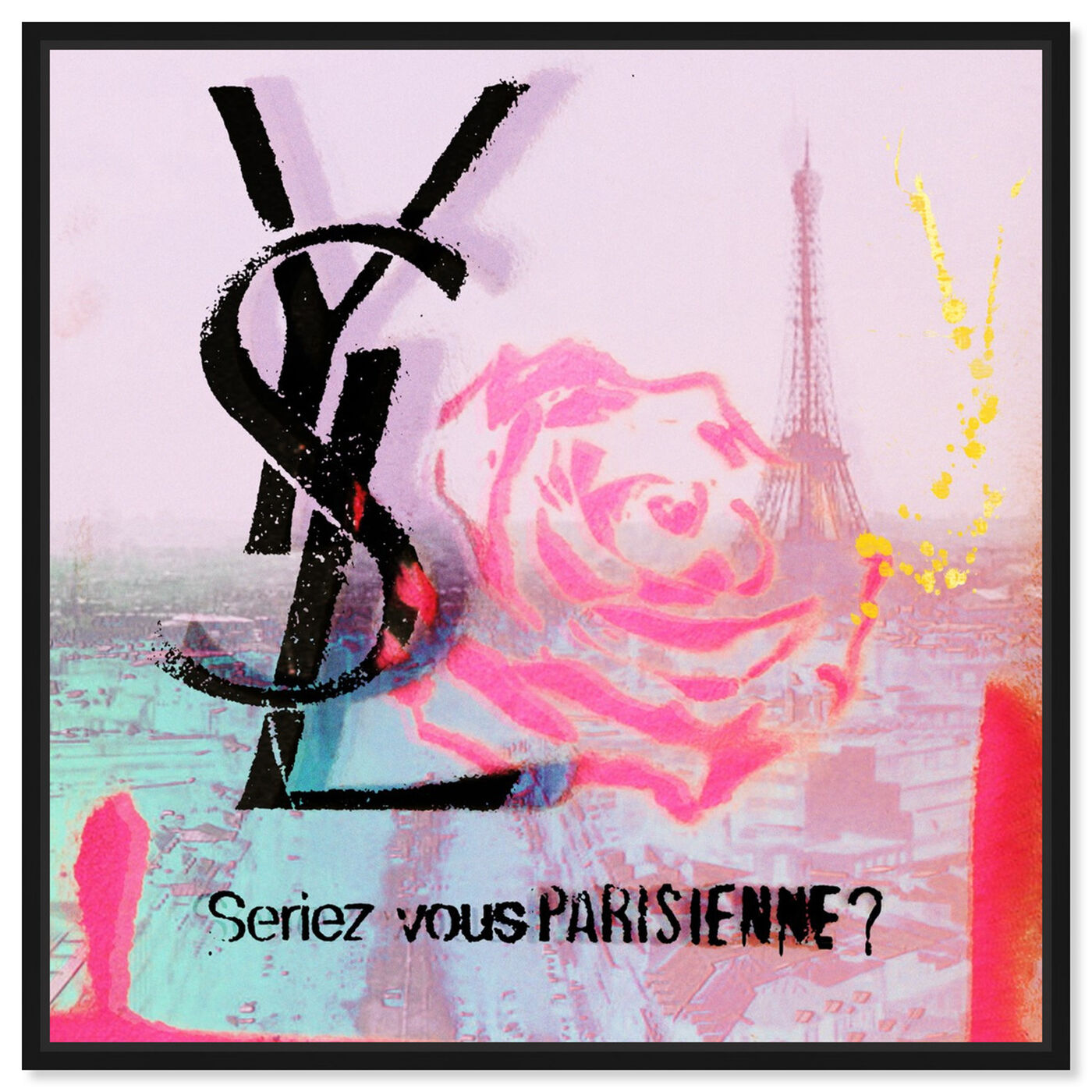 Front view of Parisienne featuring fashion and glam and lifestyle art.