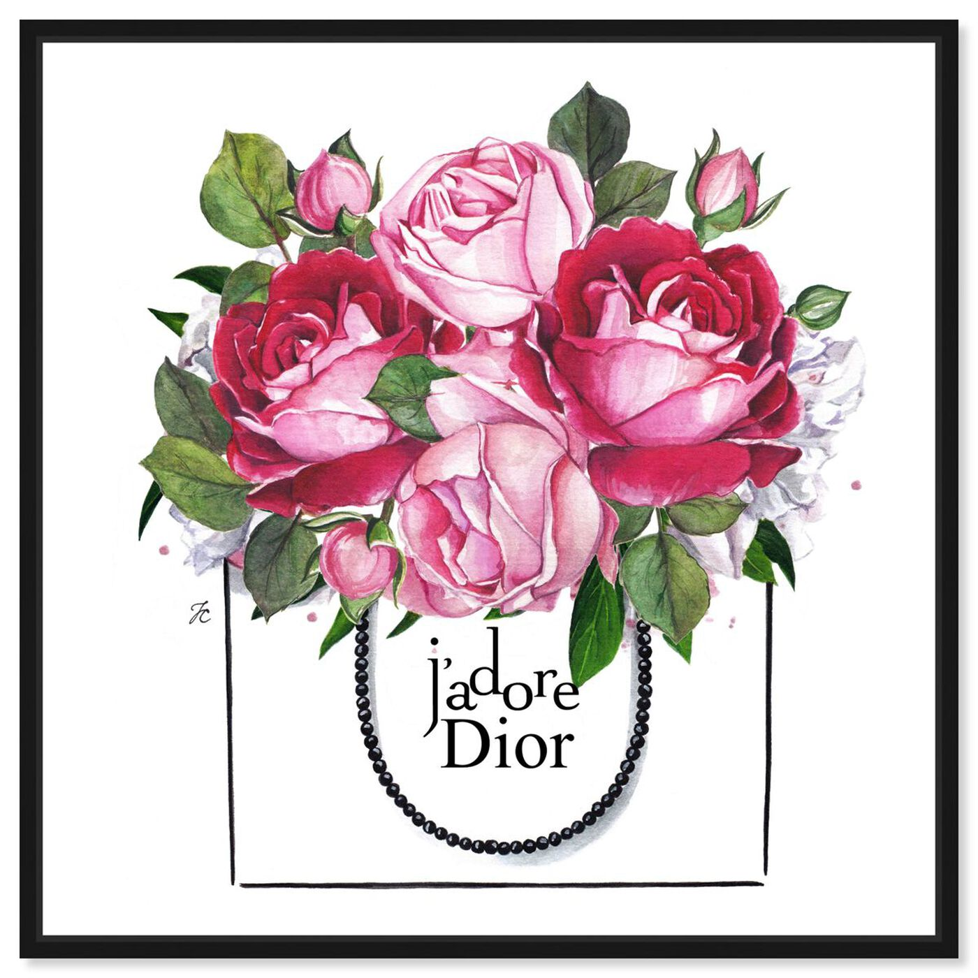 Front view of Doll Memories - Peonies II featuring floral and botanical and florals art.