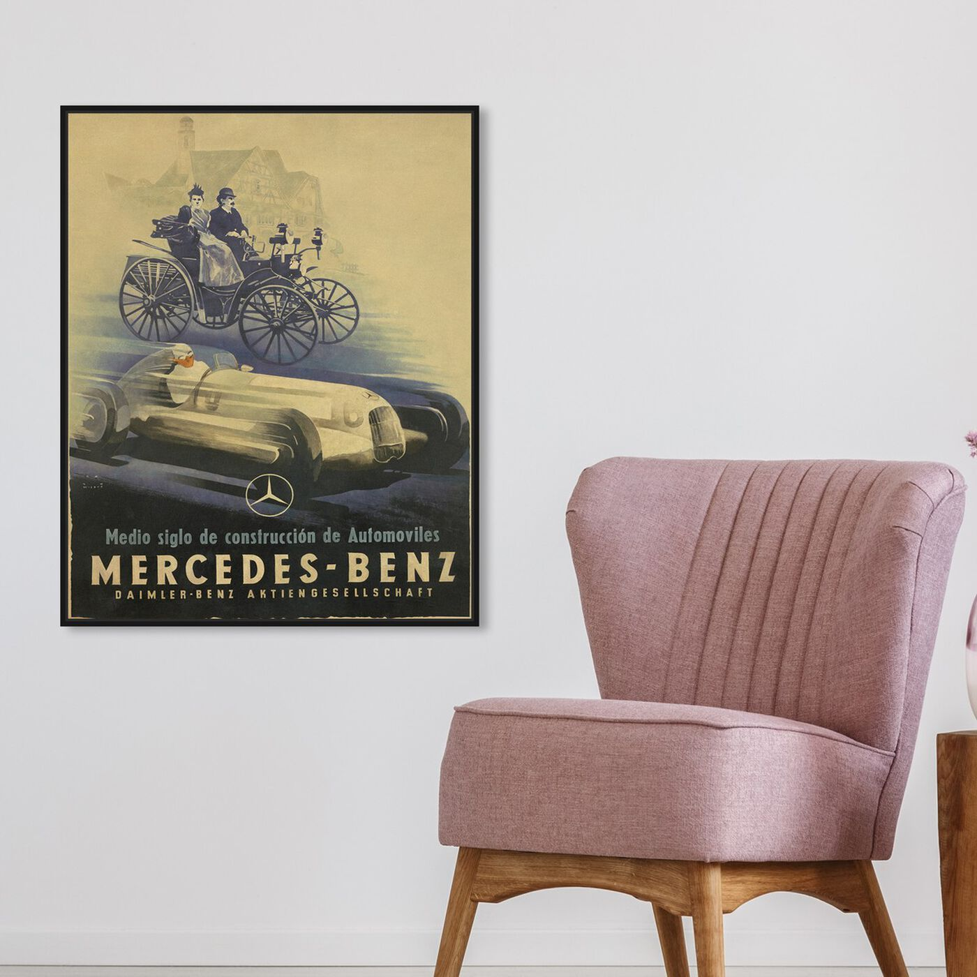 Hanging view of Mercedes Deco featuring advertising and promotional brands art.