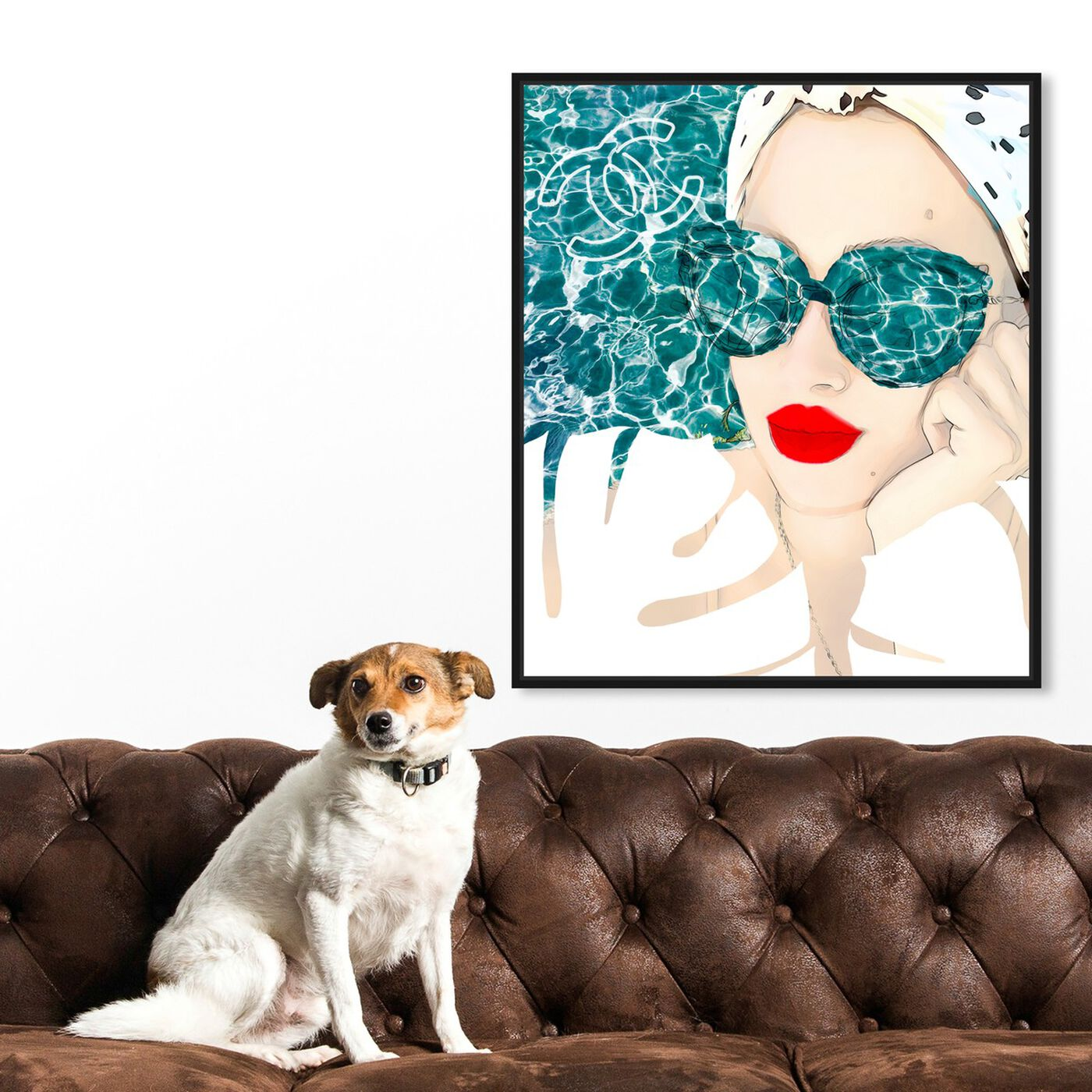 Hanging view of MariPily featuring fashion and glam and portraits art.