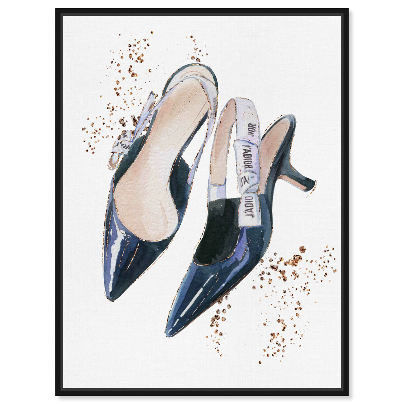 Front view of I adore my daily shoes featuring fashion and glam and shoes art.