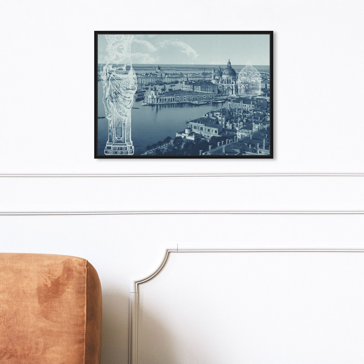 Hanging view of Doges Palace featuring world and countries and european countries art.