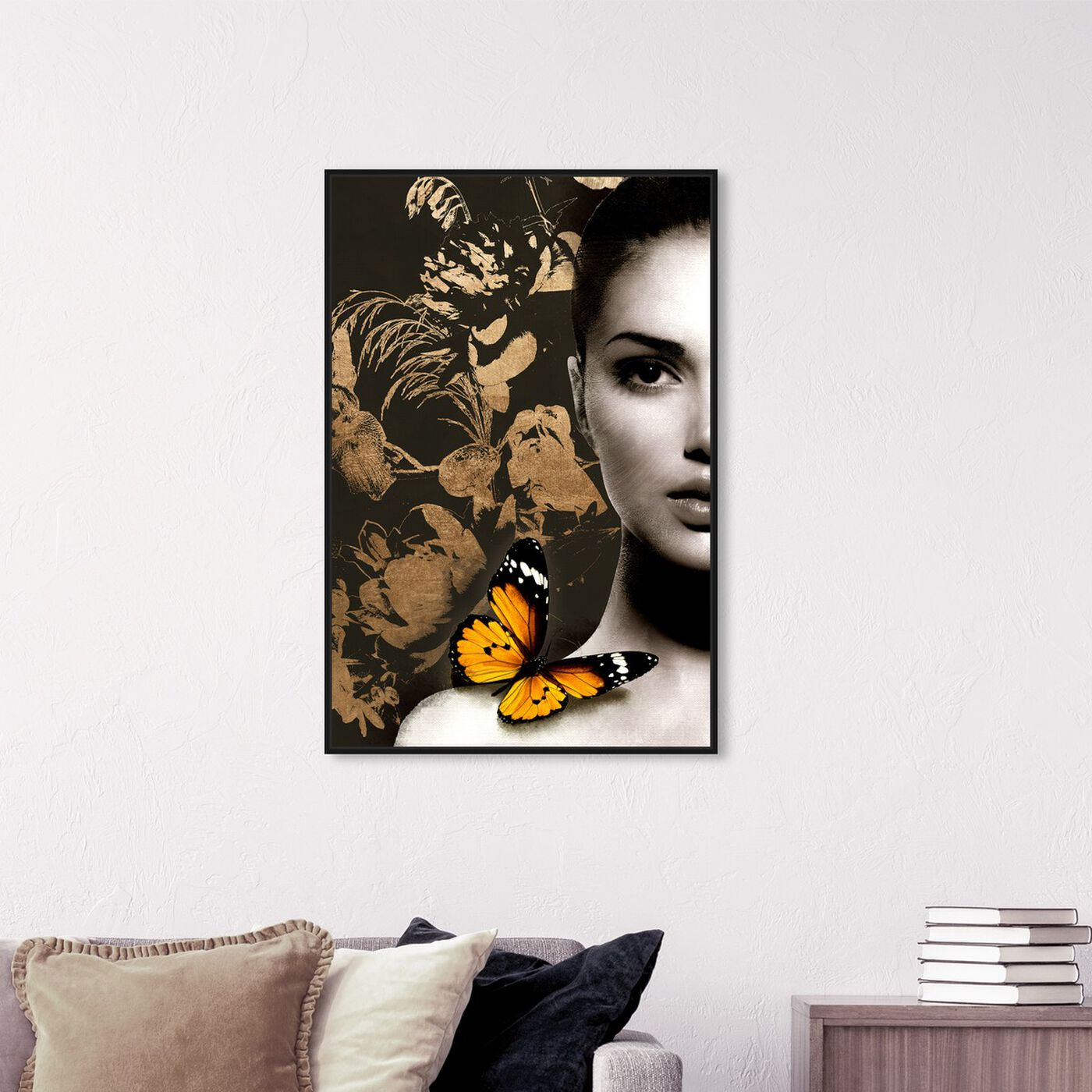 Hanging view of Elusive Monarch Duchess Gold featuring fashion and glam and portraits art.