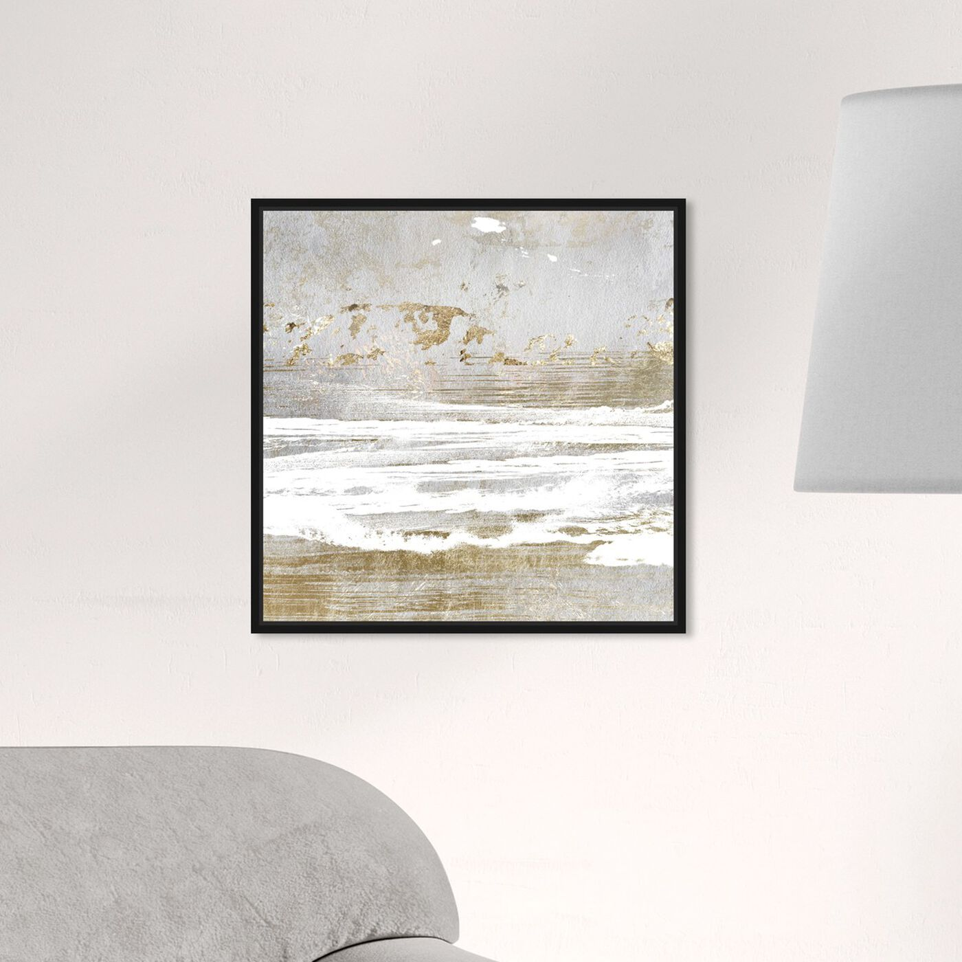 Hanging view of Hopeful Romantic featuring abstract and paint art.