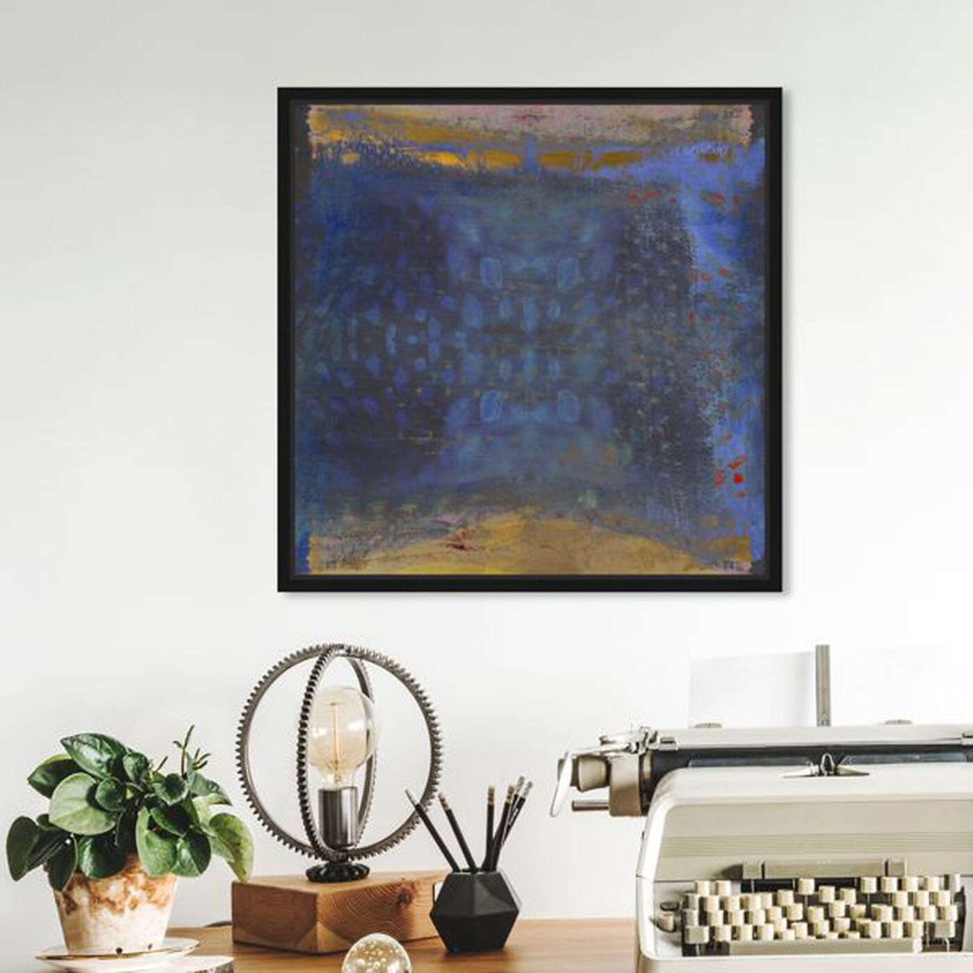 Hanging view of Golden Beach featuring abstract and textures art.