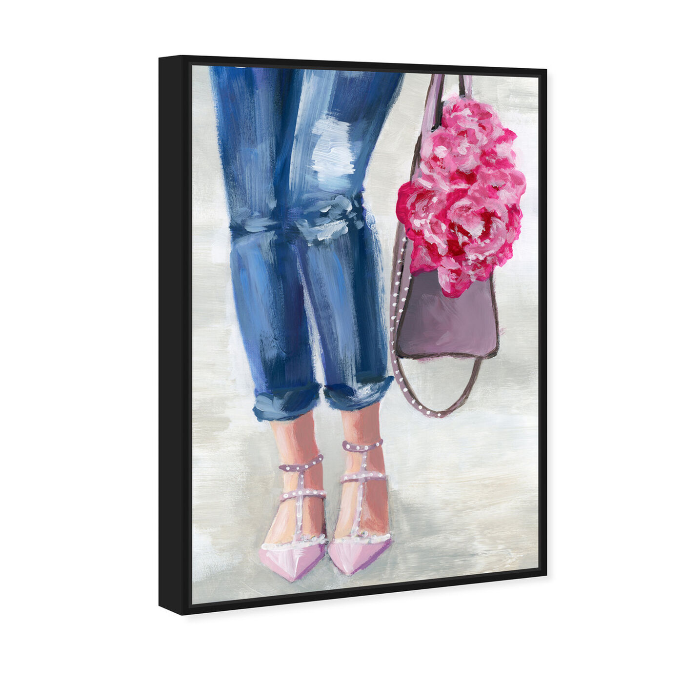 Angled view of Out and About Blush featuring fashion and glam and clothes art.