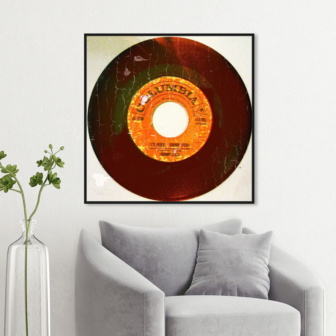 Hanging view of Rebel Vinyl featuring music and dance and vinyl records art.