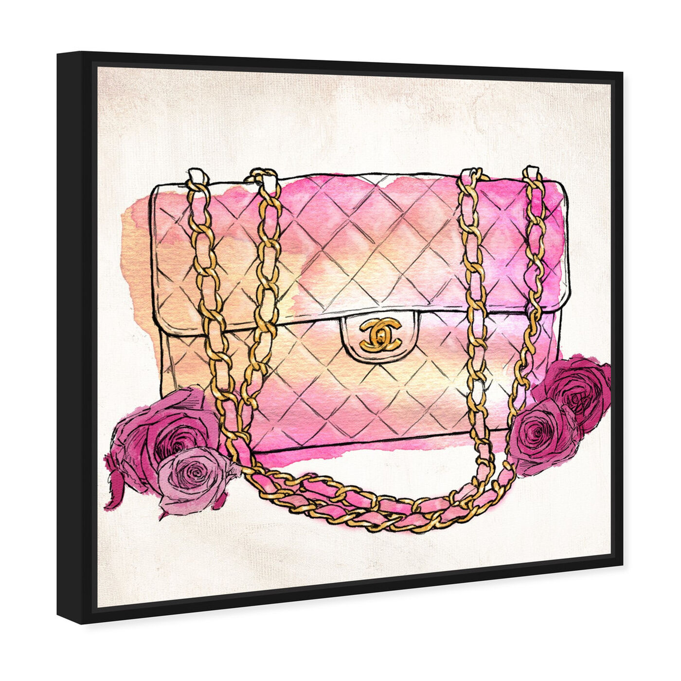 Angled view of Love at First Quilt featuring fashion and glam and handbags art.