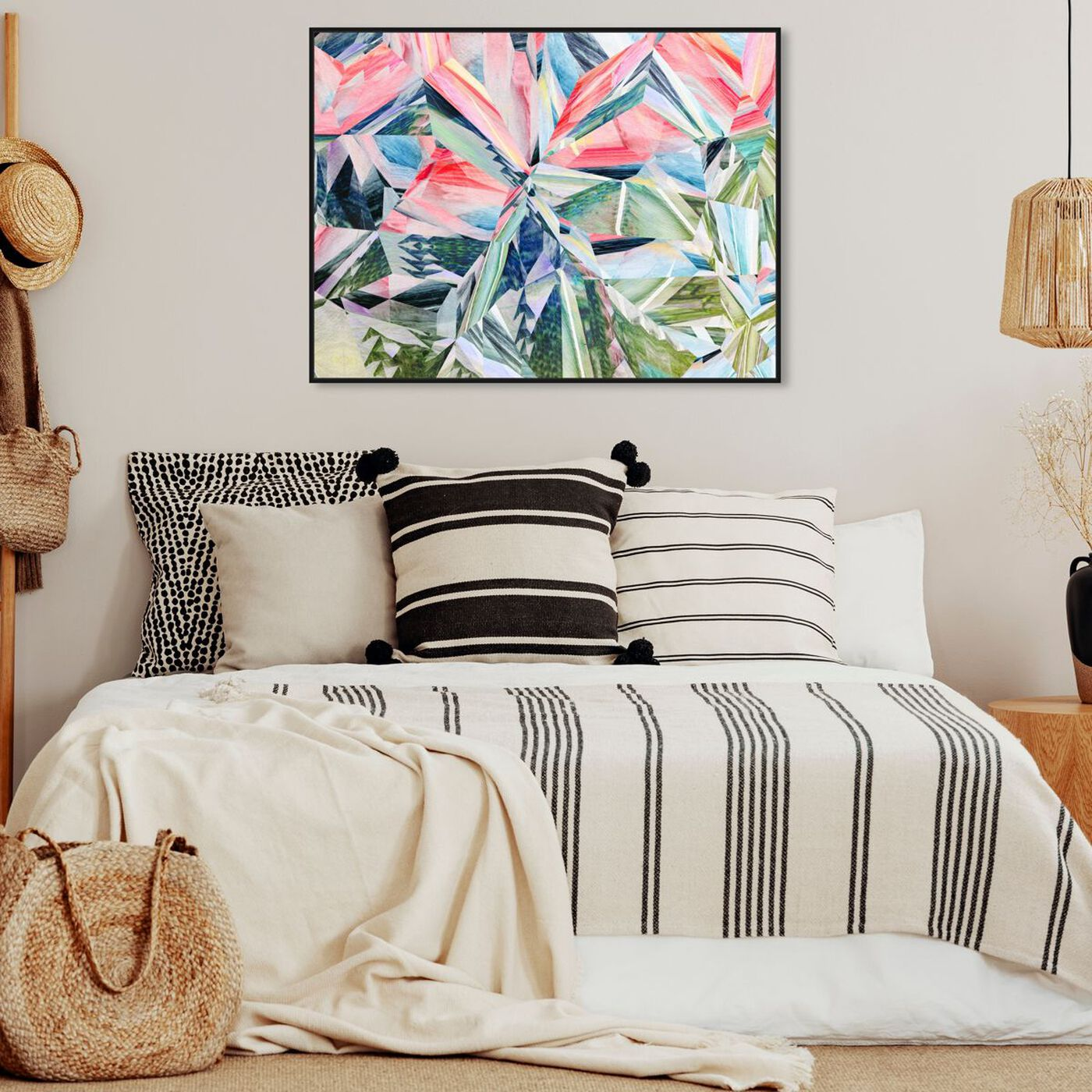 Hanging view of Right Choice featuring abstract and geometric art.