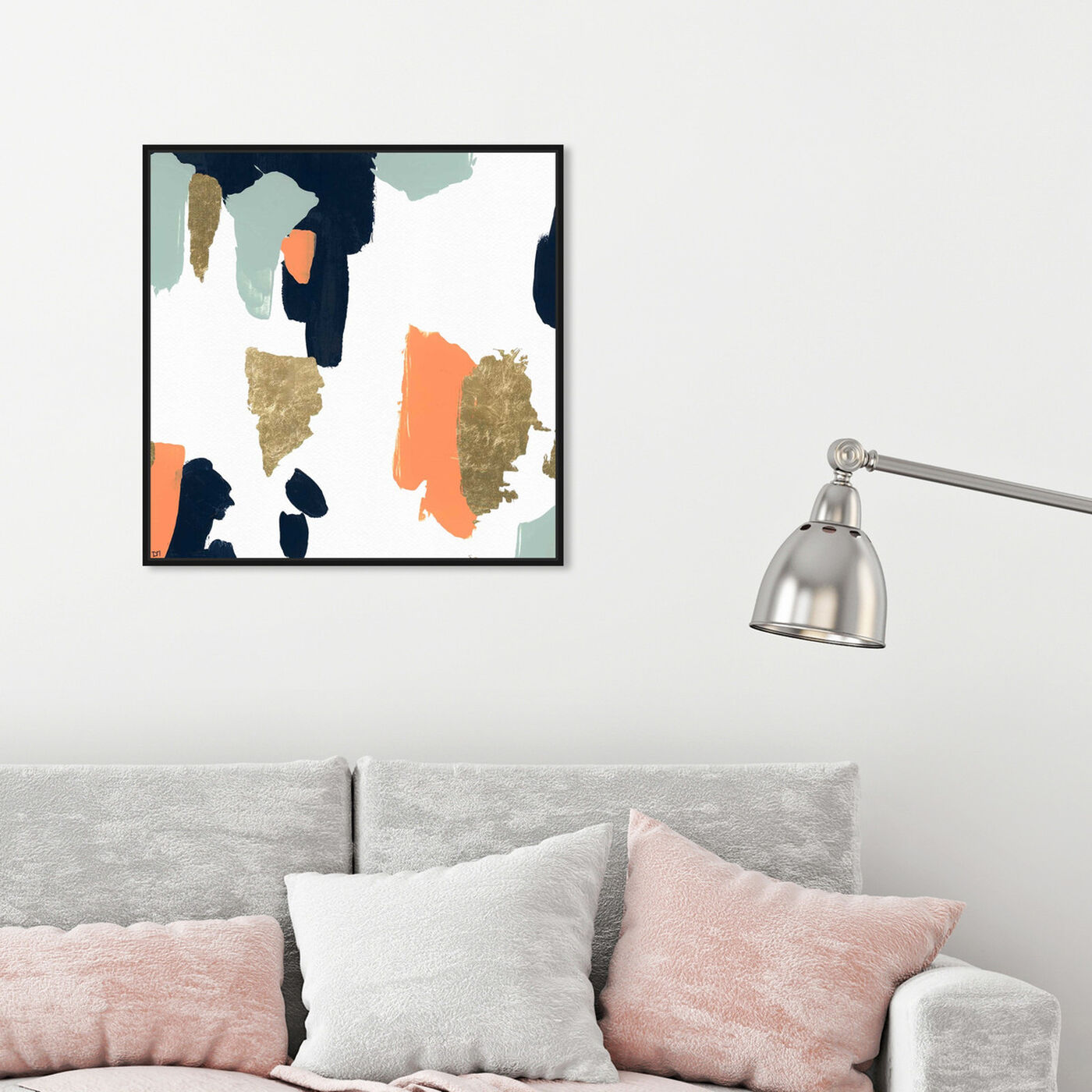 Hanging view of Tres Colores featuring abstract and paint art.