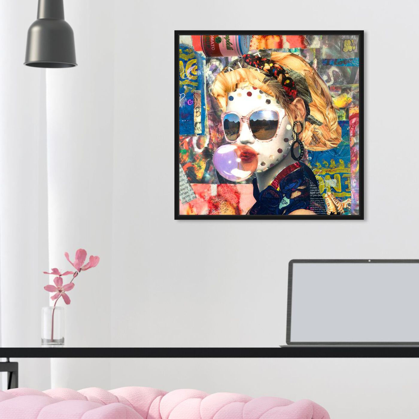 Hanging view of Katy Hirschfeld - Bubblegum featuring fashion and glam and portraits art.