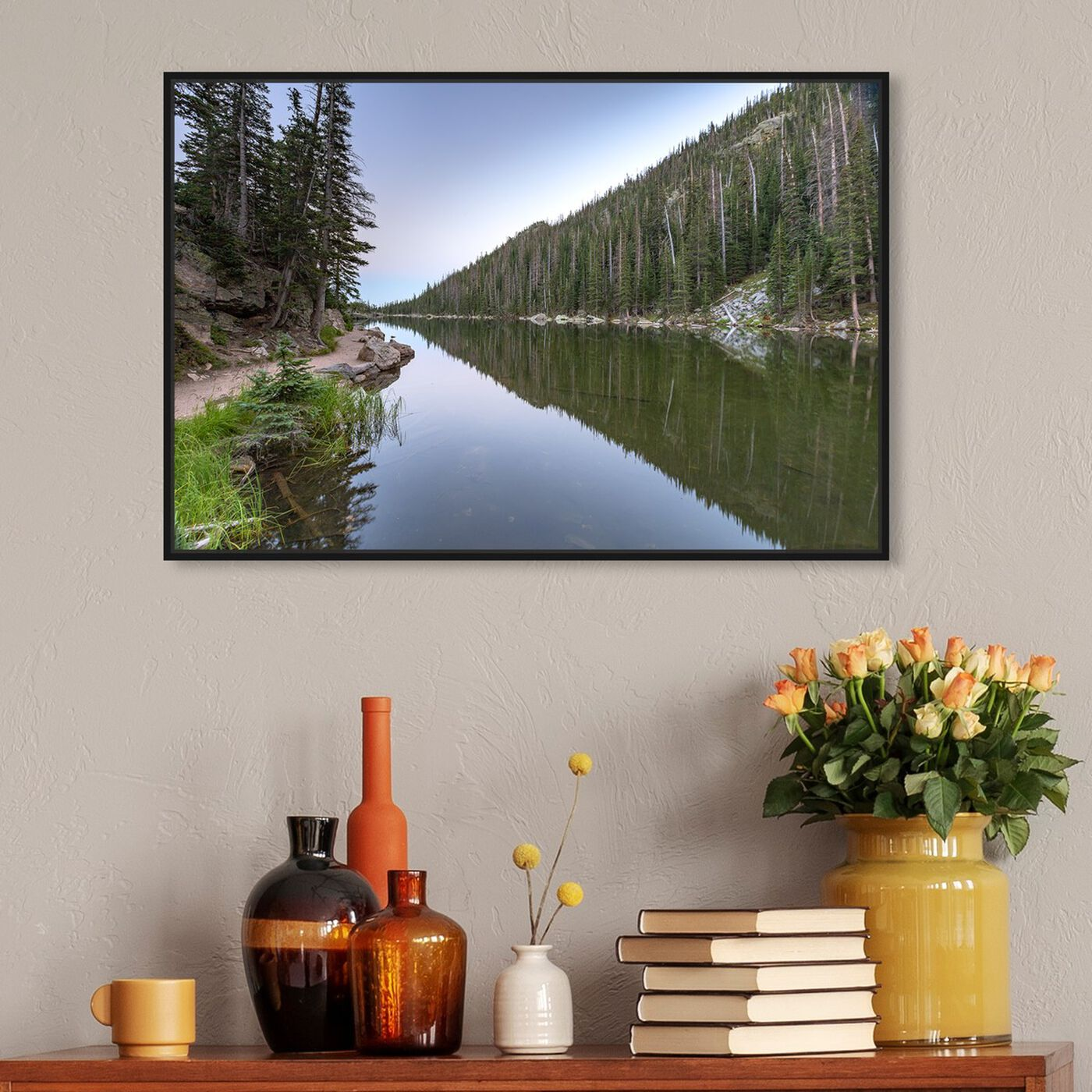 Hanging view of Curro Cardenal - Winding River featuring nature and landscape and nature art.