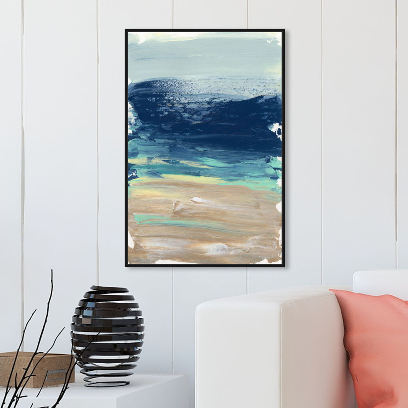 Hanging view of Into The Sea featuring abstract and paint art.