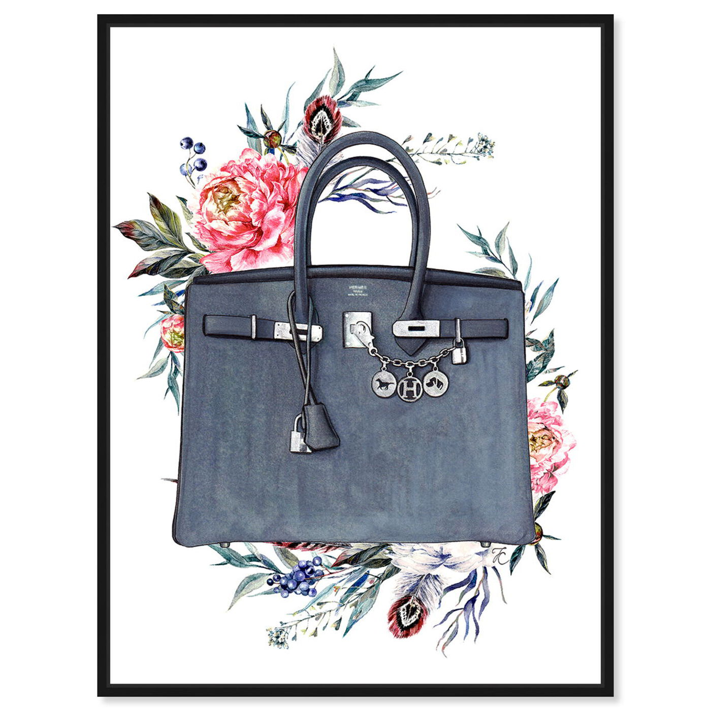 Front view of Doll Memories - Paris Glam and Flowers featuring fashion and glam and handbags art.