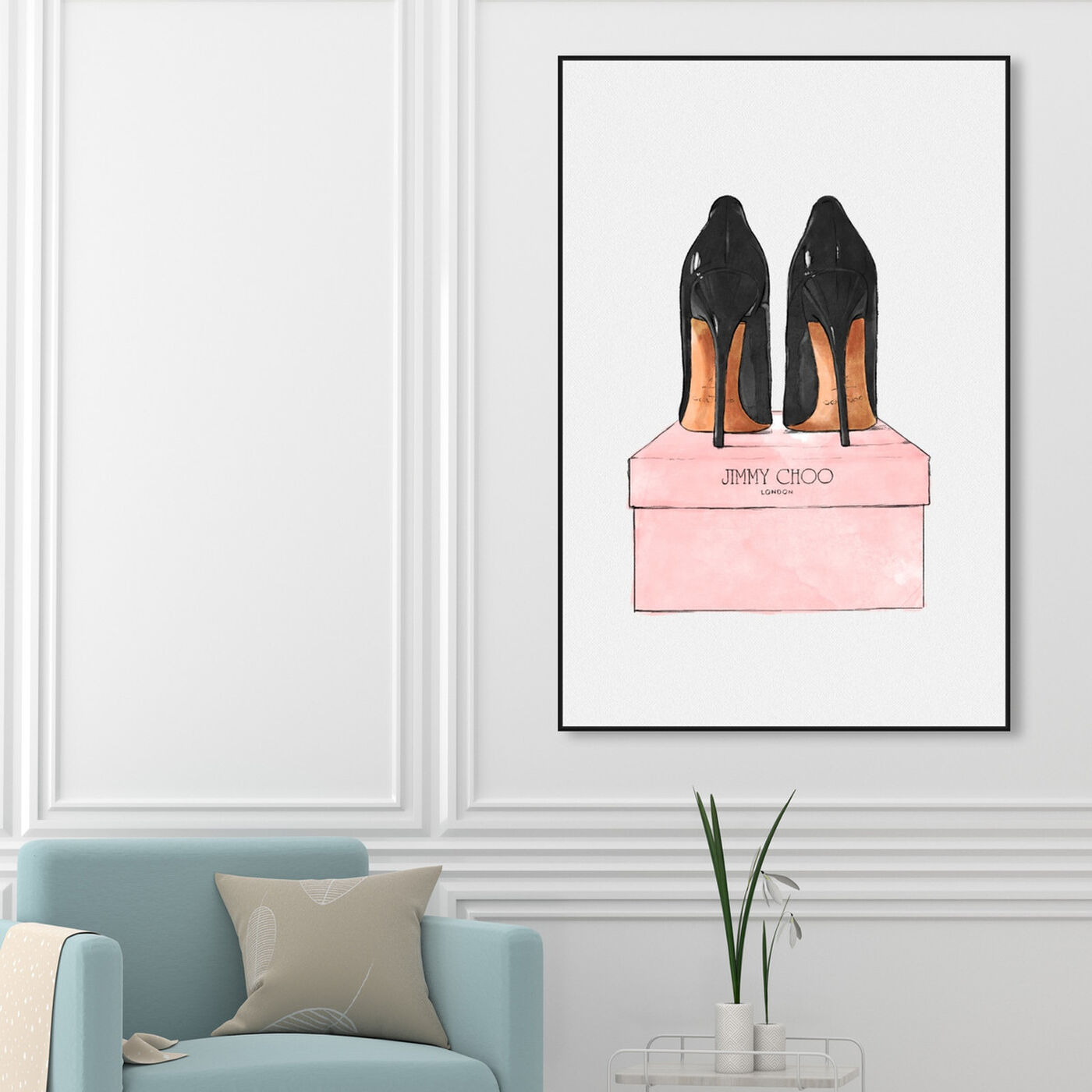 Hanging view of Night Out Stilettos featuring fashion and glam and shoes art.