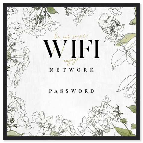 Wifi Password Floral Sketches
