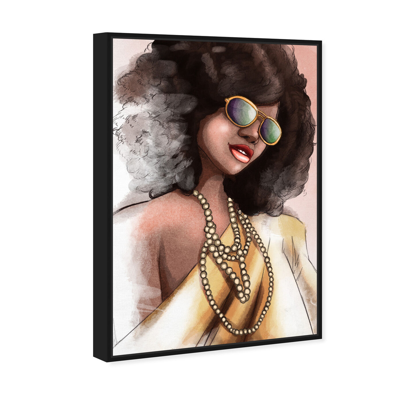 Angled view of Elegant Fade featuring fashion and glam and portraits art.