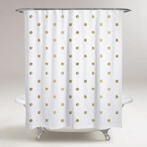 I See Polka Dots Shower Curtain