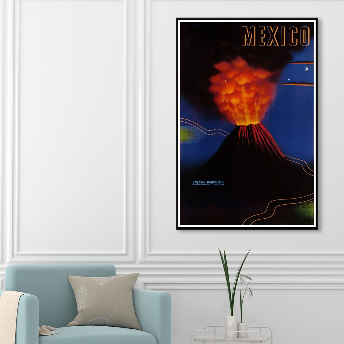 Hanging view of Mexico Volcan featuring world and countries and american countries art.
