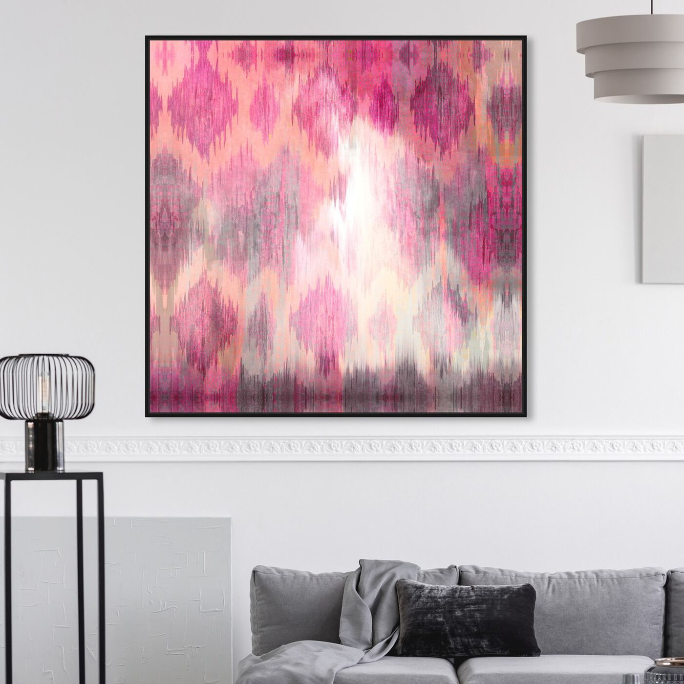 Hanging view of Adagio featuring abstract and patterns art.