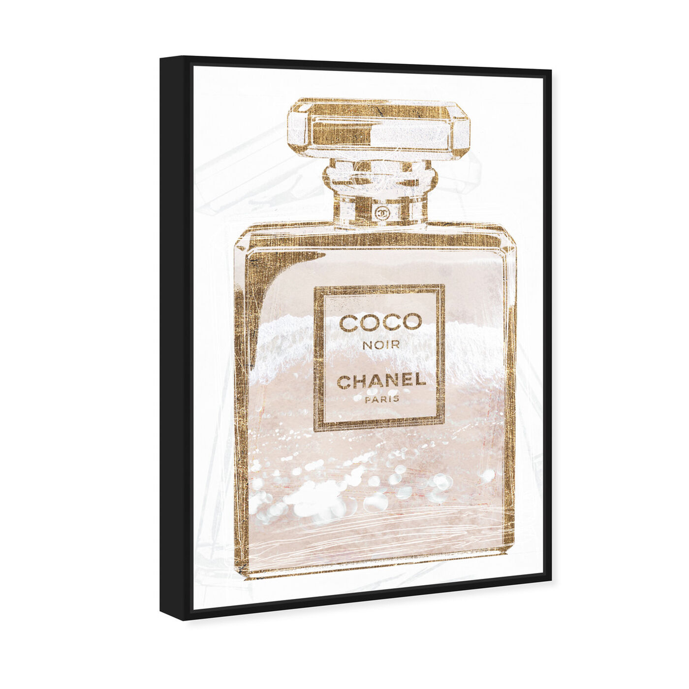 Angled view of Coco Water Love Shell featuring fashion and glam and perfumes art.