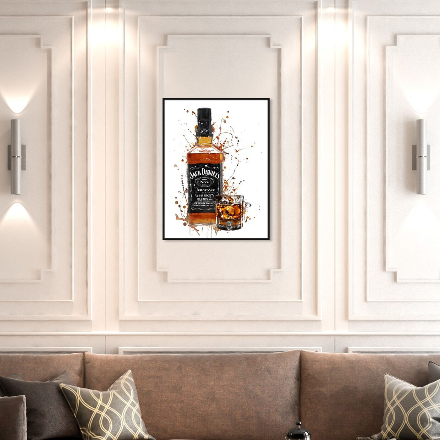 Hanging view of Whiskey Splash featuring drinks and spirits and liquor art.