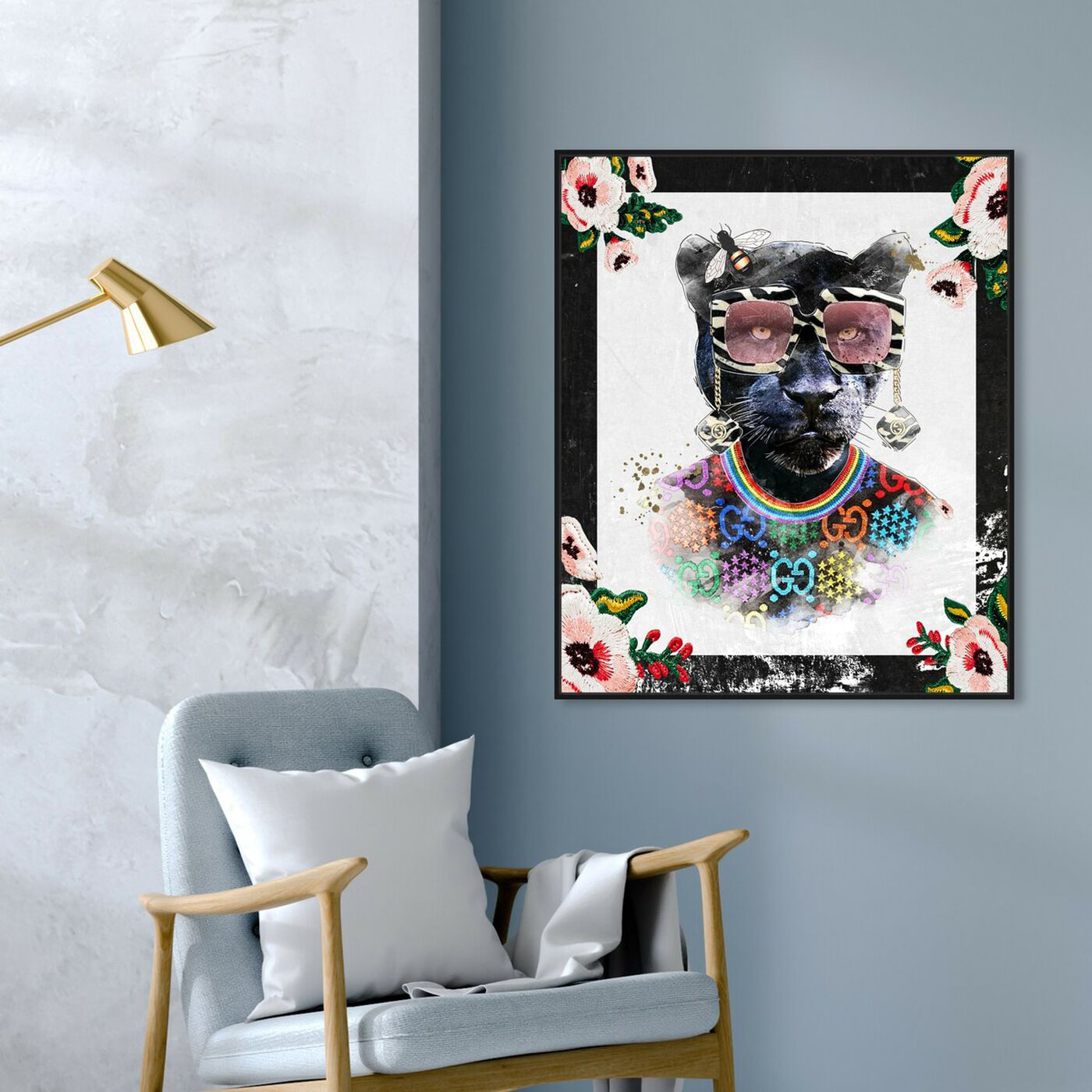 Hanging view of Luxe Mama Portrait featuring animals and zoo and wild animals art.
