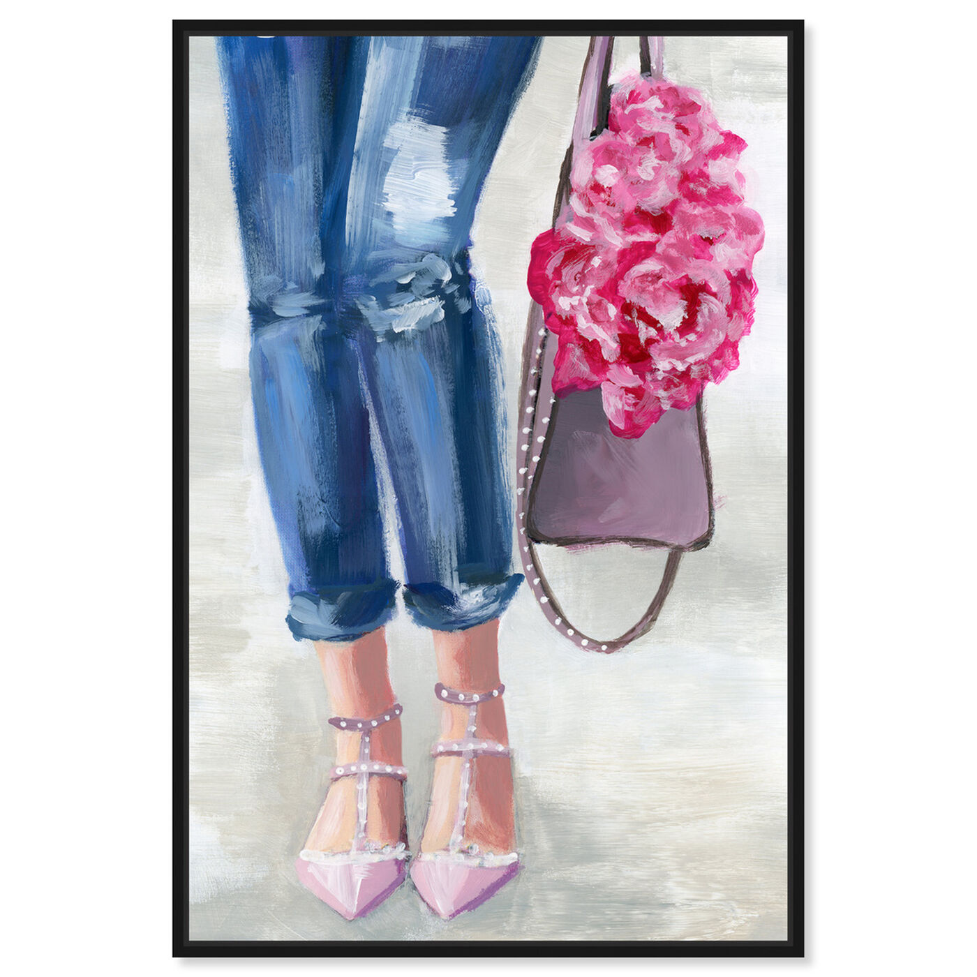 Front view of Out and About Blush featuring fashion and glam and clothes art.