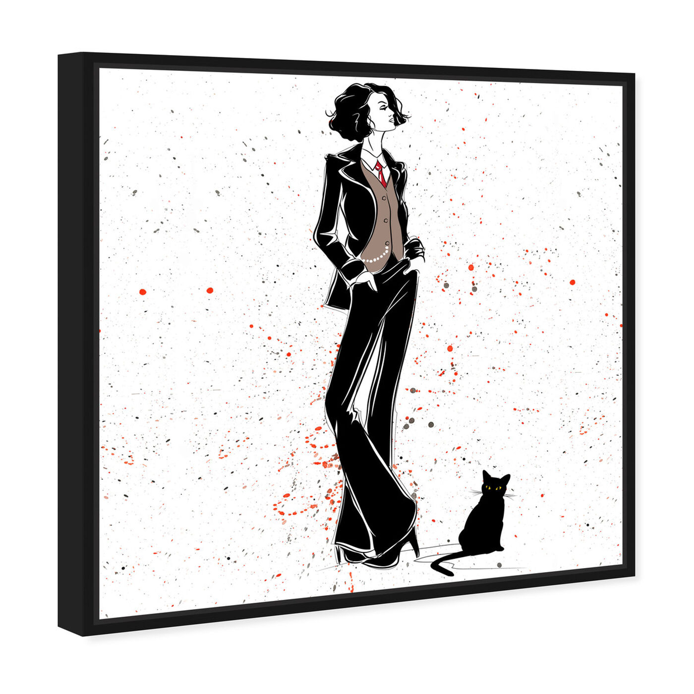 Angled view of Doll Memories - Stylish Femme featuring fashion and glam and outfits art.