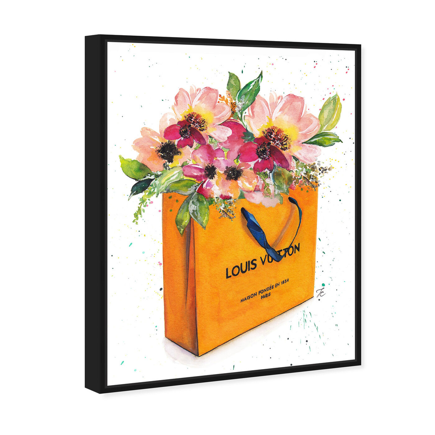 Angled view of Doll Memories - Orange Shopper featuring fashion and glam and lifestyle art.