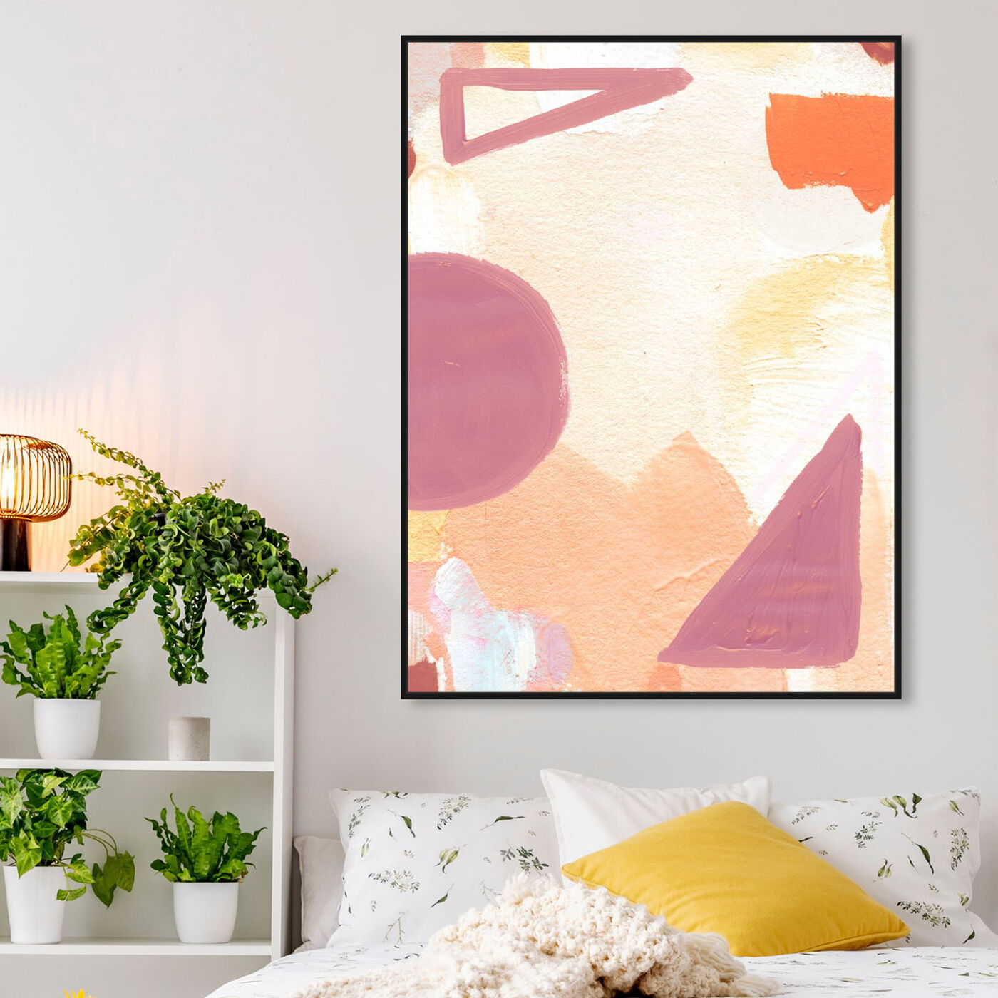 Hanging view of Surreal Poetic featuring abstract and geometric art.