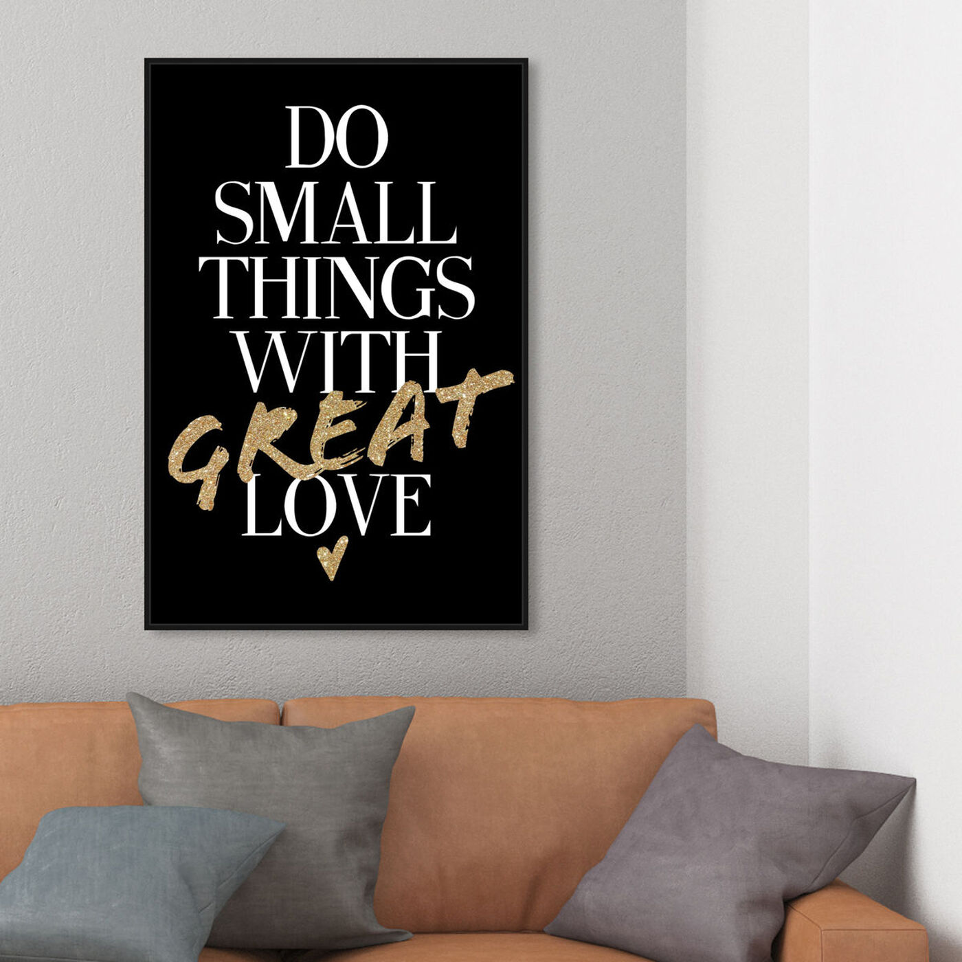 Hanging view of Things With Love II featuring typography and quotes and inspirational quotes and sayings art.