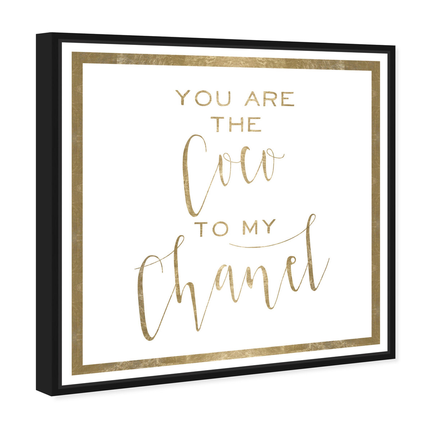 Angled view of Fashion Best Friends Gold featuring typography and quotes and fashion quotes and sayings art.