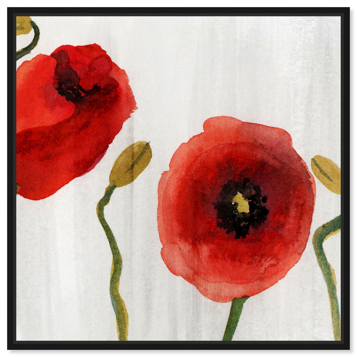 Front view of Red Flowers Classic featuring floral and botanical and florals art.