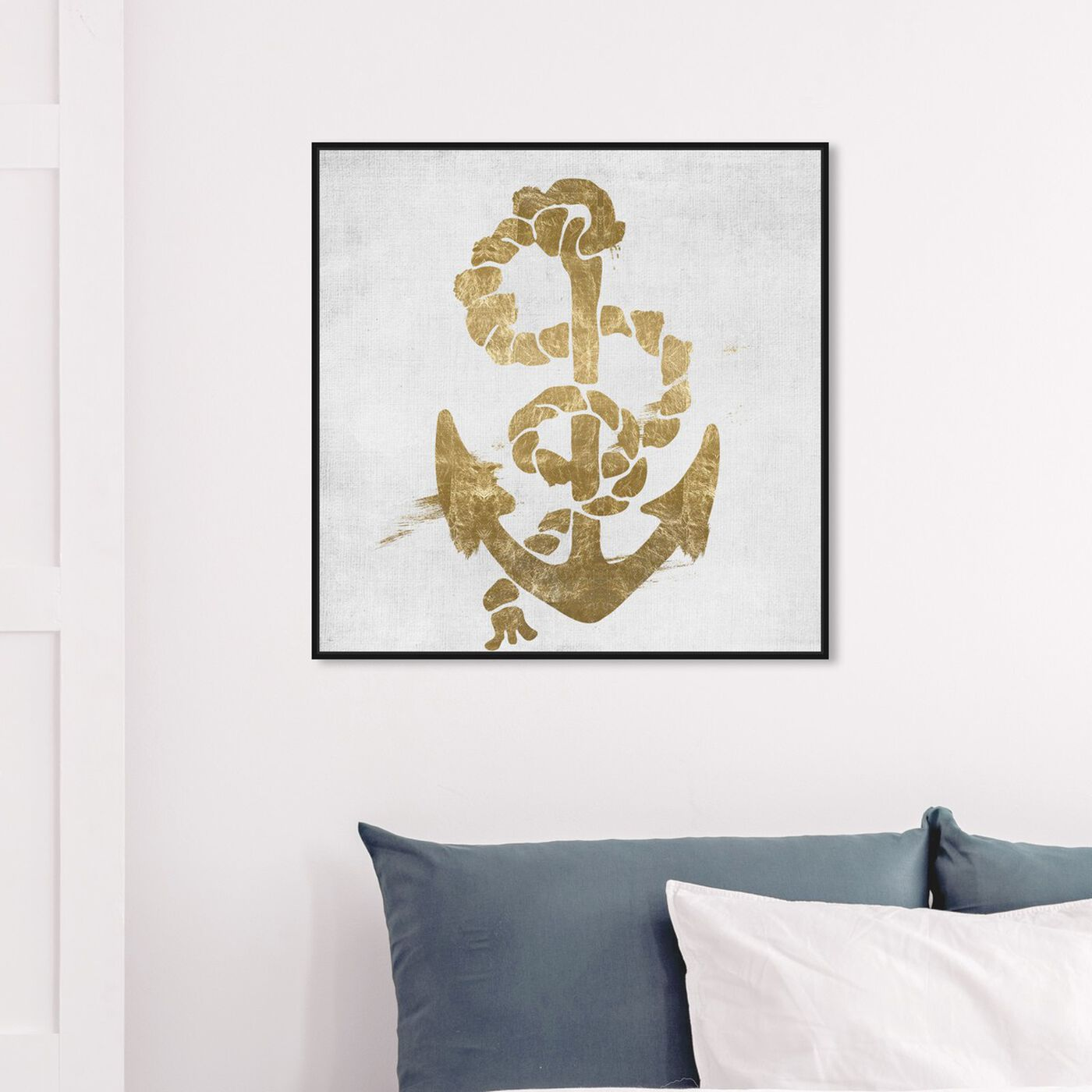 Hanging view of SS Luxe featuring nautical and coastal and nautical watercrafts art.