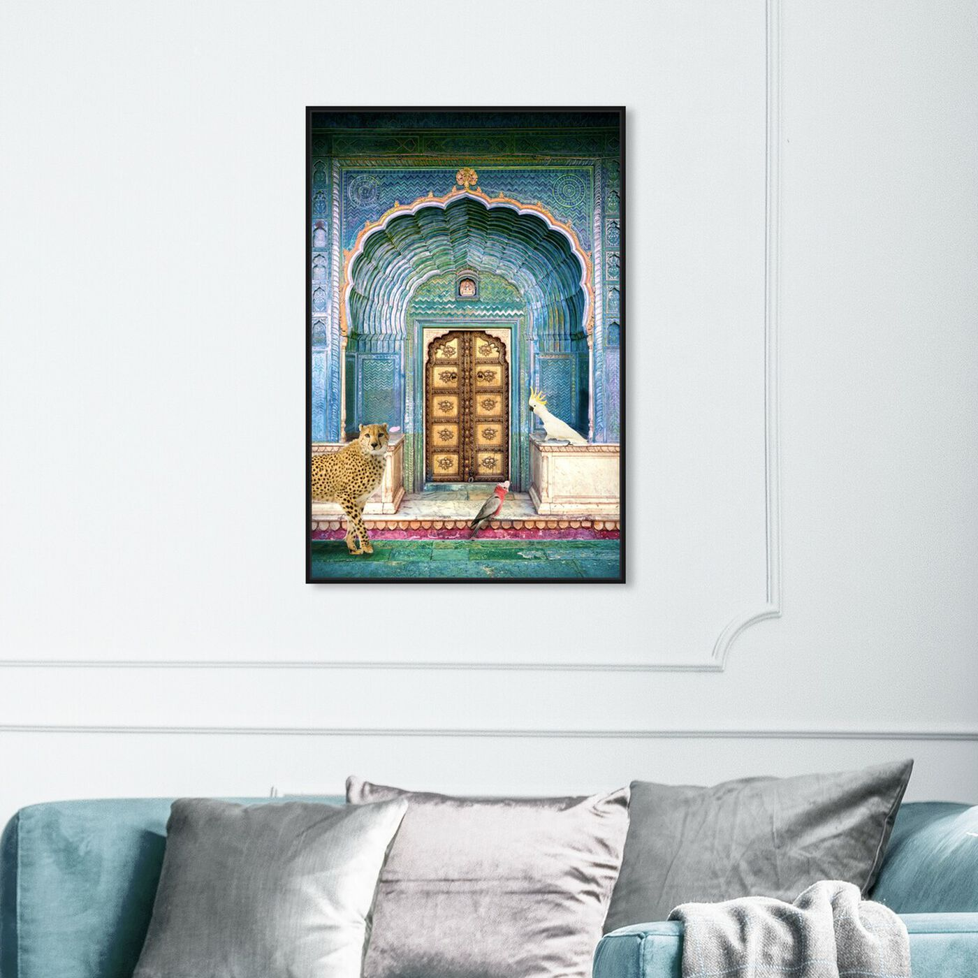Hanging view of Chillin By The Door featuring animals and felines art.