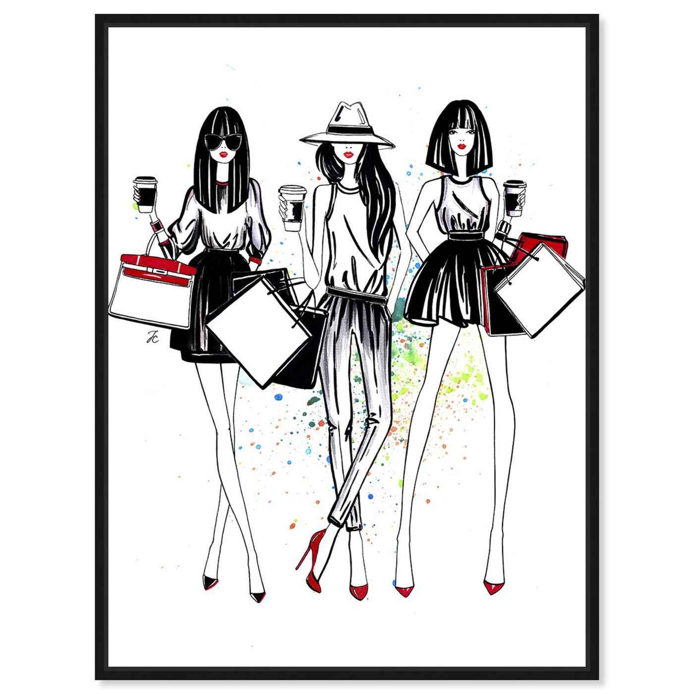 Front view of Doll Memories - Shopping Spree featuring fashion and glam and outfits art.