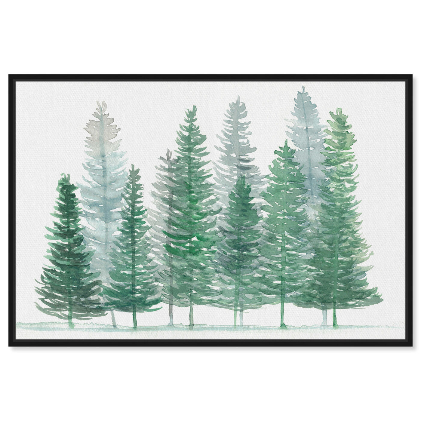 Front view of Forest Pine featuring nature and landscape and forest landscapes art.