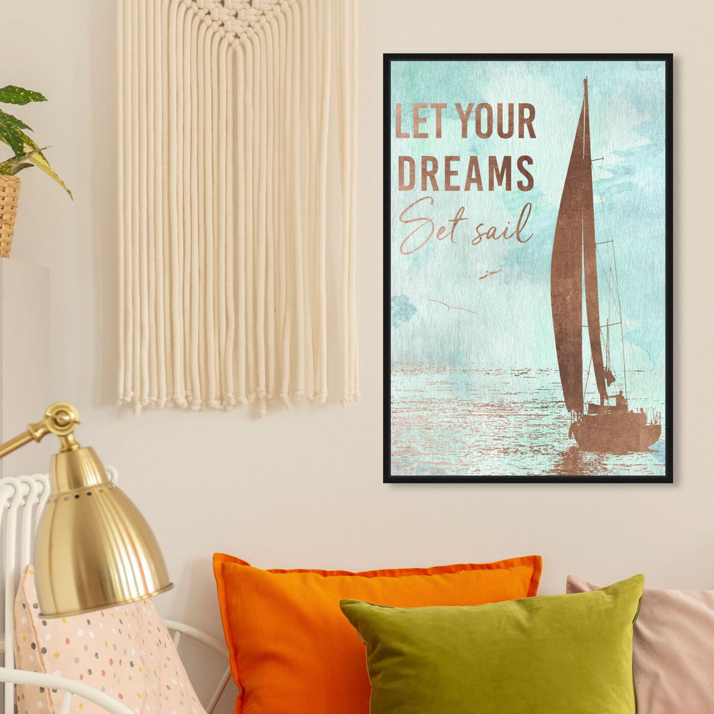 Hanging view of Dream Boat featuring transportation and boats and yachts art.