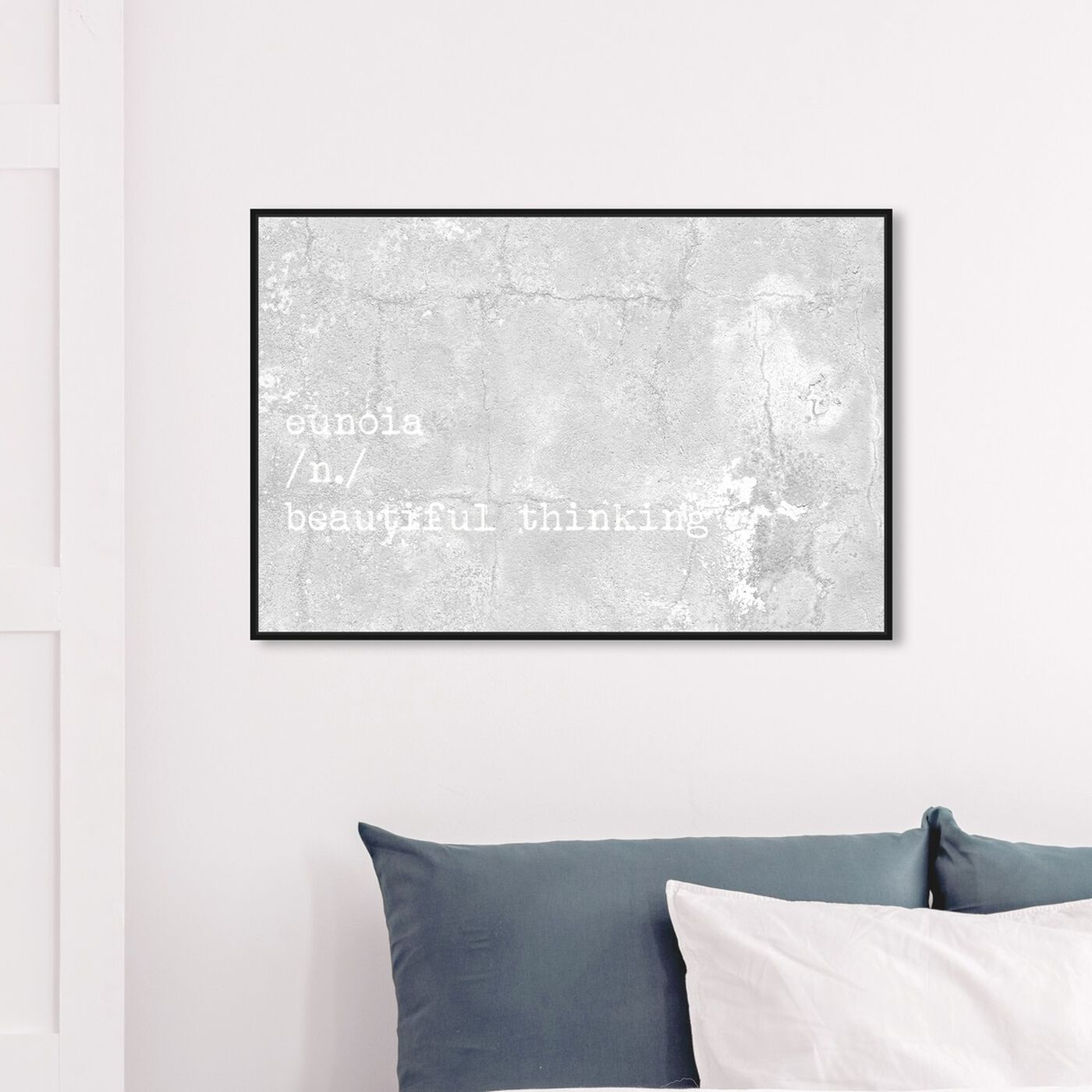 Hanging view of Beautiful Thinking featuring typography and quotes and beauty quotes and sayings art.